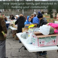 How does your familly get involved in the community