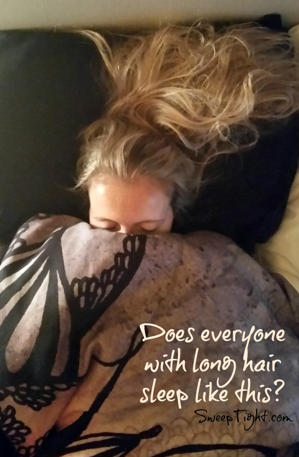 Seriously, doesn't everyone with long hair sleep like this? #NaturesSleep