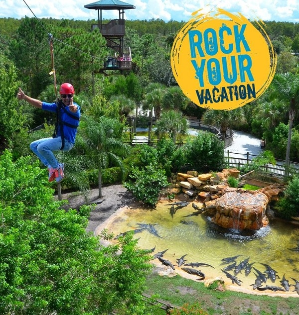 Zipline through Gatorland! #RockYourVacation