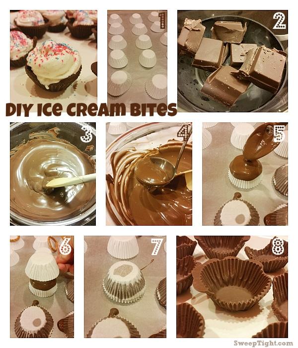 DIY Ice Cream Bites Chocolate Shells