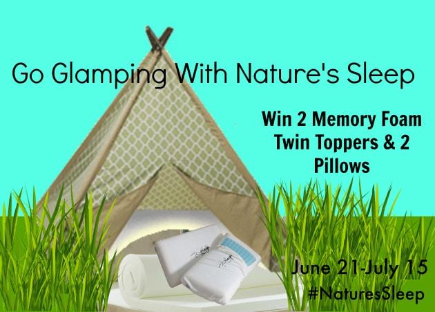 Glamping With Nature's Sleep #NaturesSleep