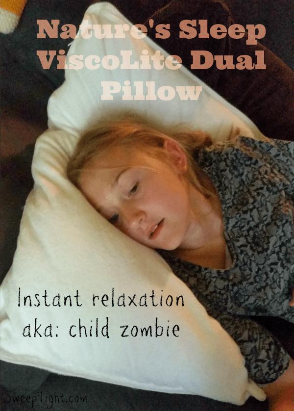 ViscoLite Dual Memory Foam pillow from #NaturesSleep