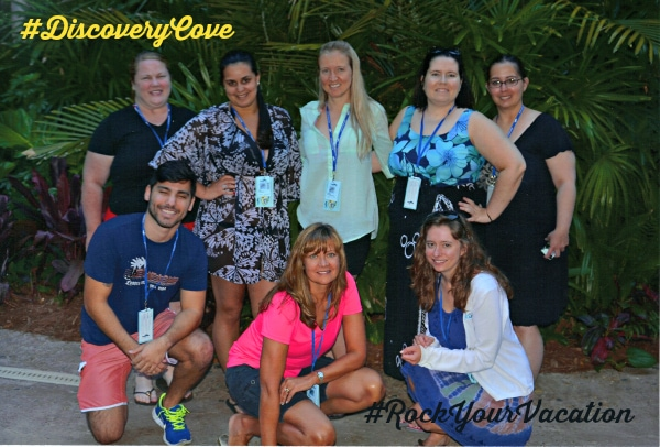 Discovery Cove #RockYourVacation bloggers