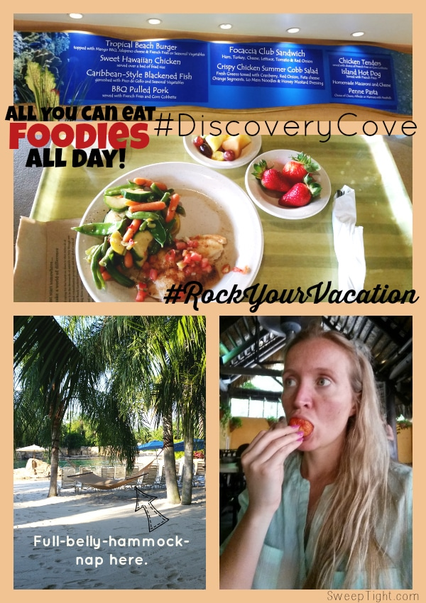 Food at #DiscoveryCove all inclusive #RockYourVacation