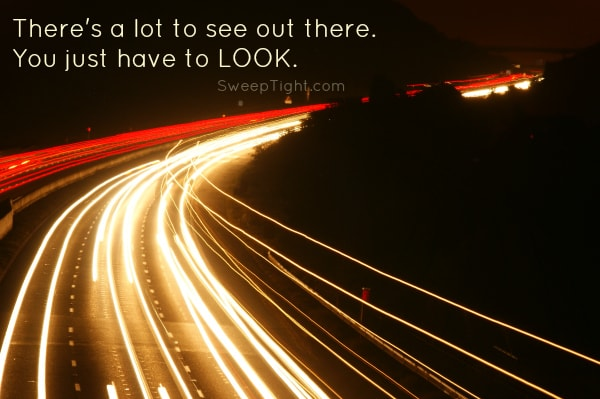 Look Up while driving! See the world and be safe!