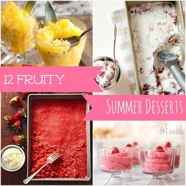 12 Fruity Summer Dessert Recipes
