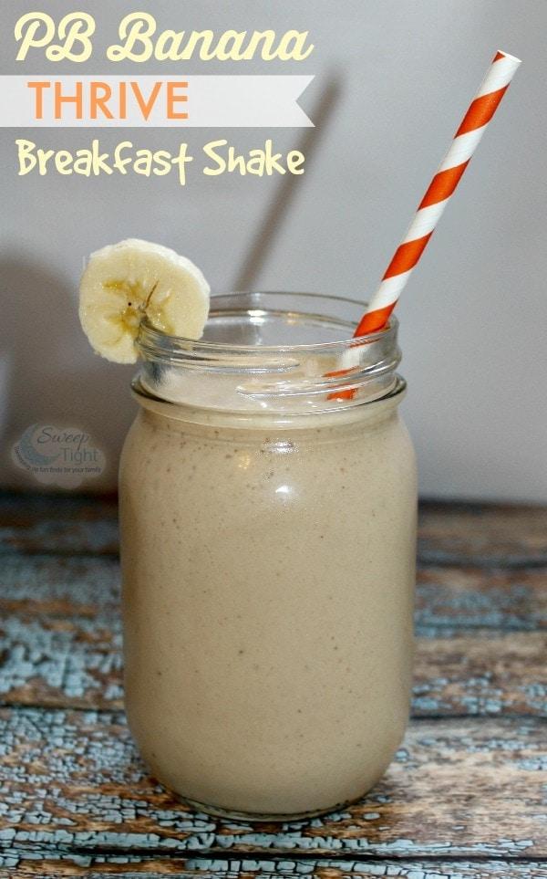 Energizing Peanut Butter Banana Breakfast Shake Recipe