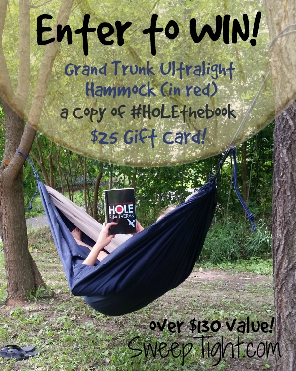 Win #HOLEtheBook a hammock and a gift card!