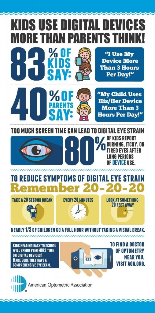 Tips to avoid digital eye strain especially for back to school kids #AOA #MC (sponsored)