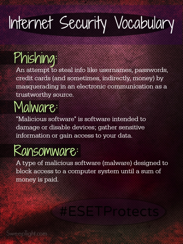 Internet threat lingo you should be aware of and use ESET to protect your devices! #ESETProtects