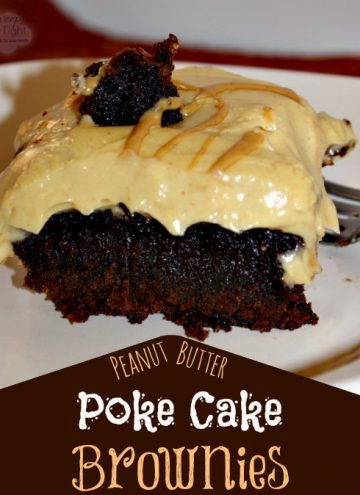Peanut Butter Poke Cake Brownies Recipe