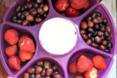 Cake Batter Fruit Dip in my New Tupperware Serving Center Set