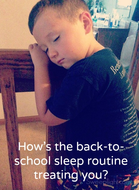 Have you gotten used to back to school sleep schedules yet? #NaturesSleep #sponsored