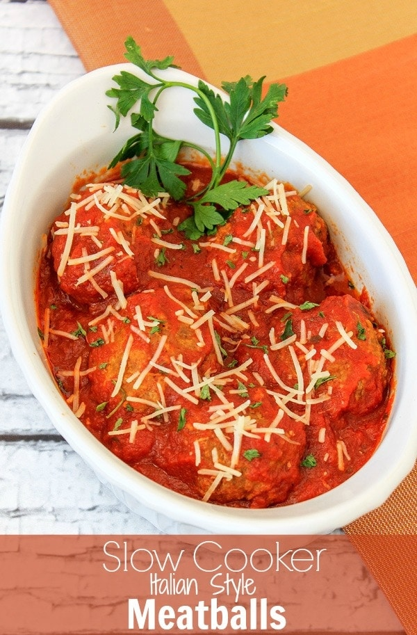 Italian Style Slow Cooker Meatballs Recipe | A Magical Mess