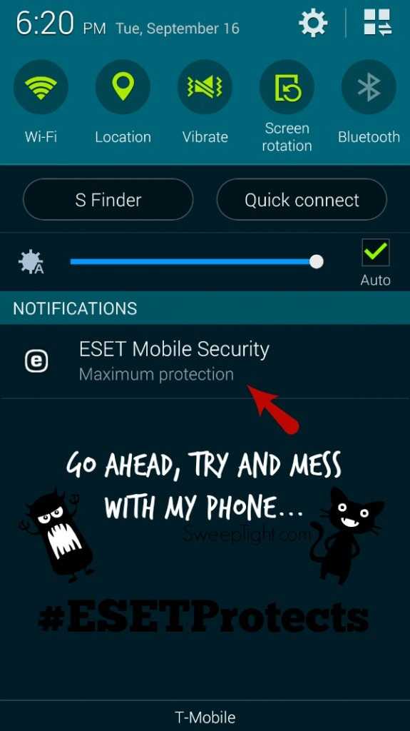 I'm not even worried about my smartphone anymore #ESETProtects