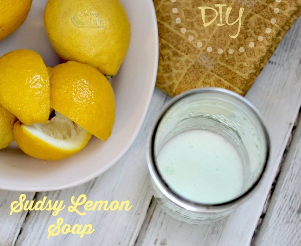 DIY Sudsy Lemon Soap Recipe