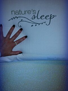 Nature's Sleep Memory Foam mattress and gel pillow have me sleeping like a baby! #NaturesSleep #spon