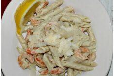 Pasta with Lemon-Basil Pesto Recipe #PastaFits #MC #sponsored