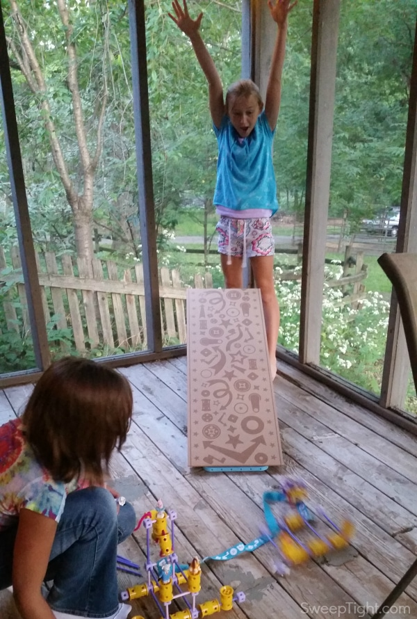 Success! Her creation withstood the ramp! #LookatGoldie Future engineer #sponsored