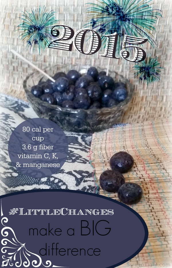Blueberries are a healthy snack for making #LittleChanges this New Year #IC #sponsored