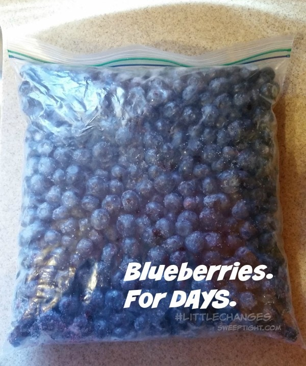 Freeze your blueberries! #LittleChanges #IC #sponsored