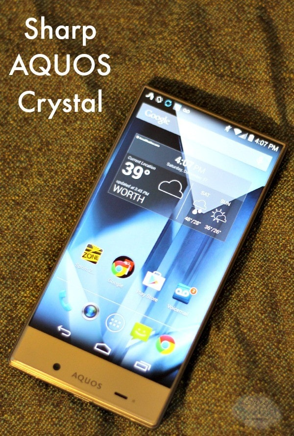 Sharp AQUOS Crystal Smartphone - Like a Tiny TV #SprintMom #BoostMom #MC #sponsored