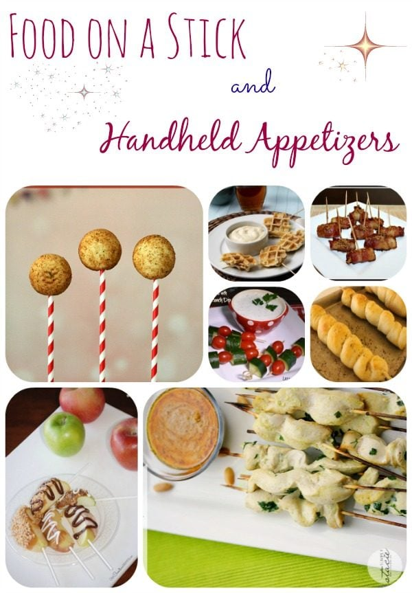 Food on a stick and handheld appetizer recipes a magical mess food on a stick and handheld appetizers recipe roundup forumfinder Choice Image