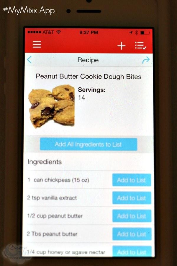 Peanut Butter Cookie Dough Bites Recipe on the #myMixx app