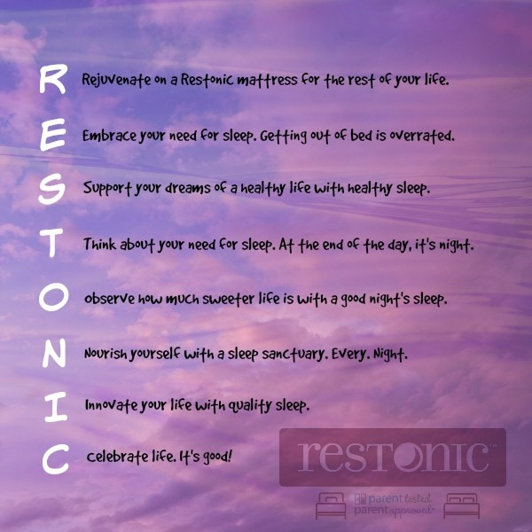 Restonic reminds us to respect sleep! #spon