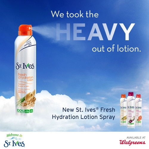 Lighten Up with Spray Lotion – #StIvesSprays
