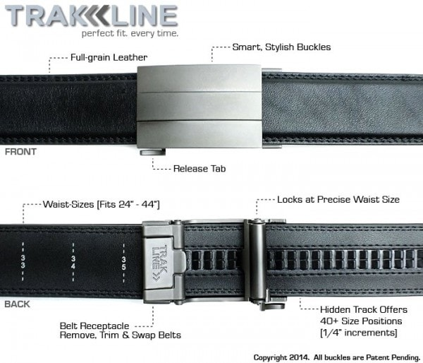 No More Belt Holes with Trakline Belt for Men