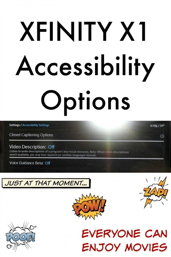 XFINITY X1 Accessibility Options