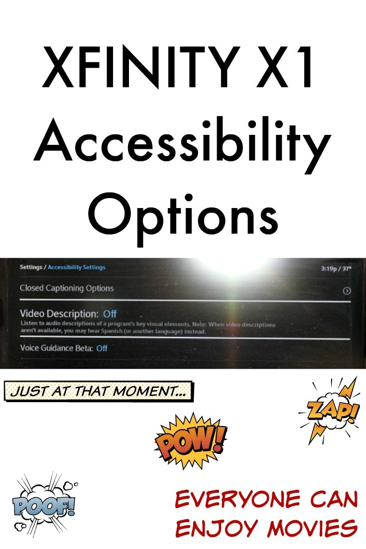Xfinity X1 Accessibility Options And 100 Giveaway Sweep Tight