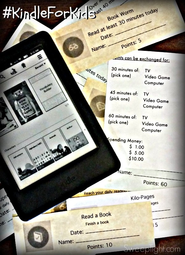 The new Amazon Kindle is making my kids read more and I made printable reading coupons for even more fun! #KindleforKids #Clevergirls #spon