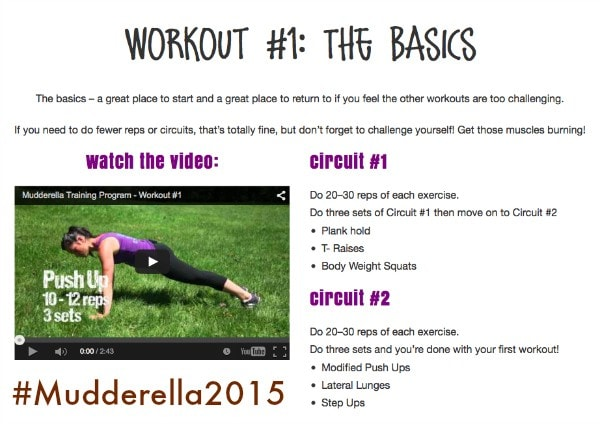 Check out all these awesome workouts! #Mudderella2015 #IC #ad