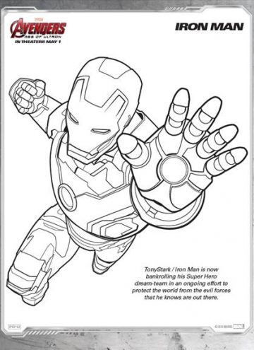 The Avengers Assemble May 1st Coloring Sheet
