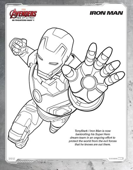The Avengers Assemble May 1st – Coloring Sheets