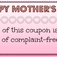 Printable Mother's Day Cleaning Coupon