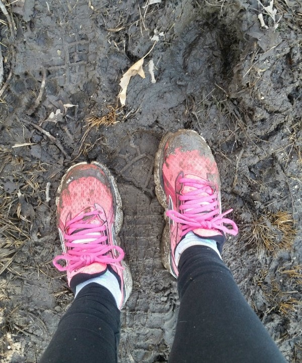 I LOVE running in mud! It's so soft on the joints! #Mudderella2015 #IC #ad