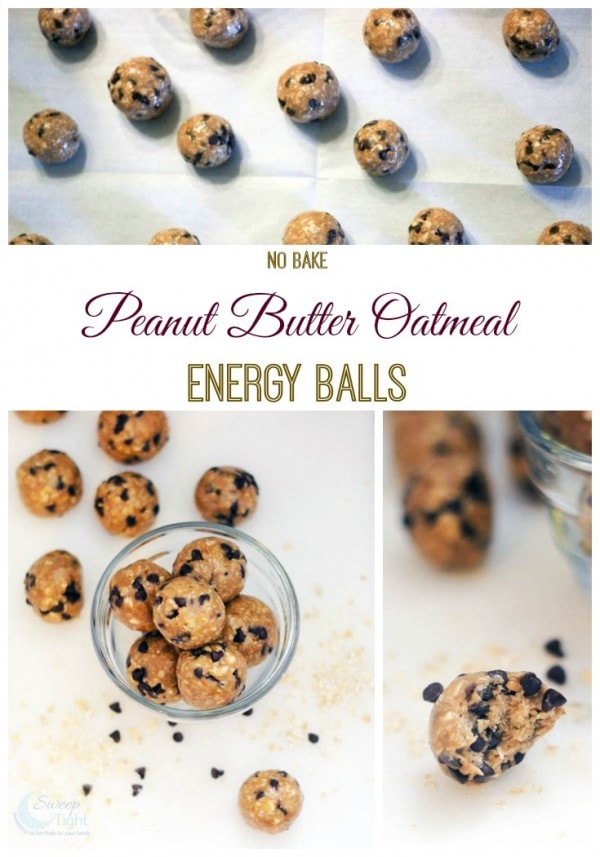No Bake Peanut Butter Oatmeal Energy Balls Recipe