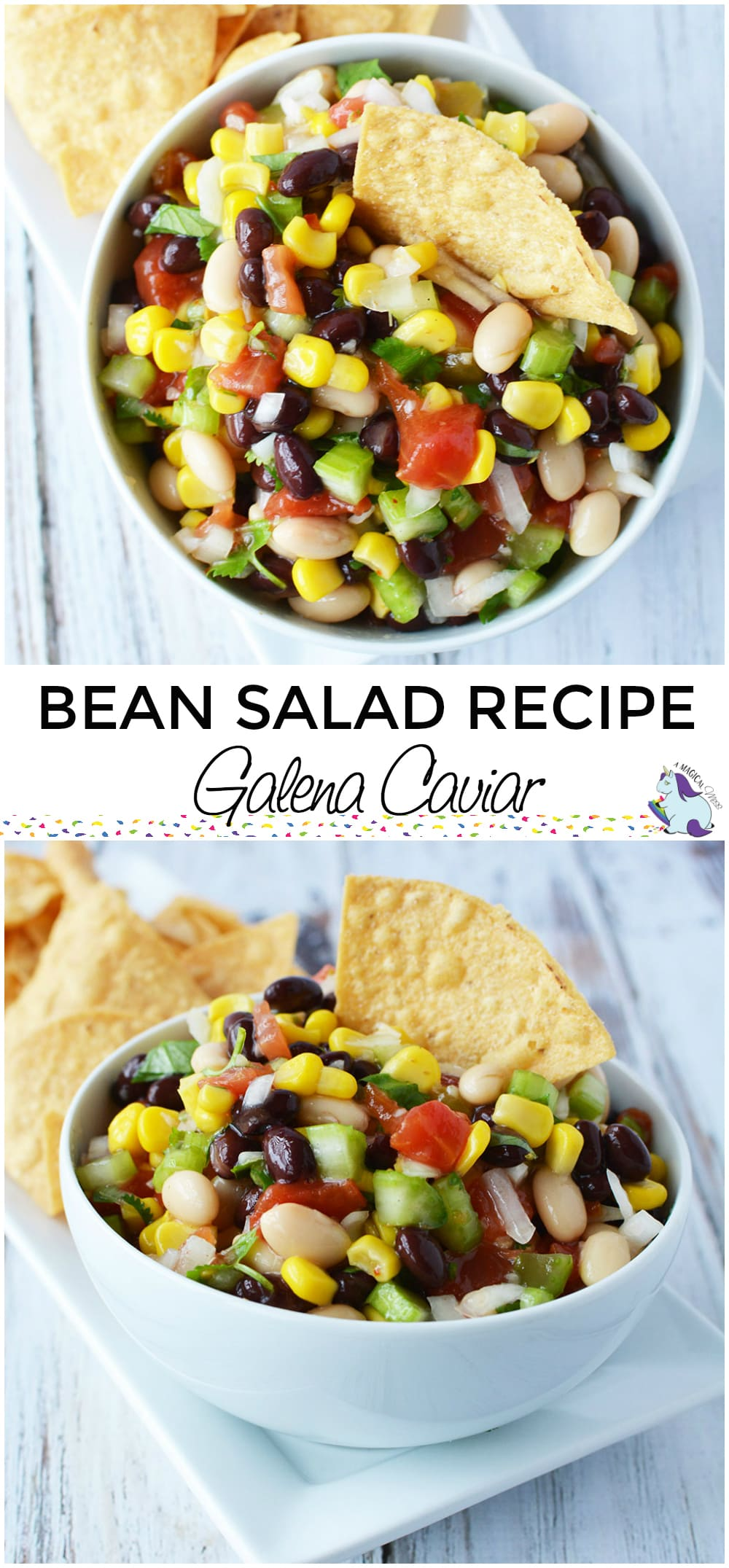 Bean Salad Recipe - My MIL's Famous Galena Caviar #sides #appetizers #bbq #dip #beans #veggies #sidedish