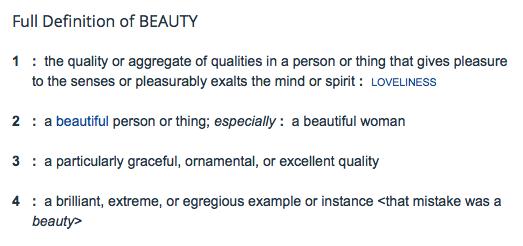 Beauty definition