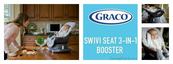 A happy baby makes for a happy mom. The Graco 3-in-1 Swivi seat lets mom be hands free while keeping baby cozy, comfy and nearby. #spon