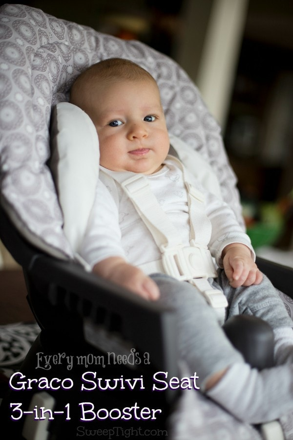 Happy baby in his Graco Swivi Seat #spon