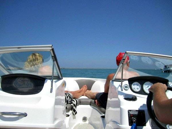 Relaxing on Lake Michigan