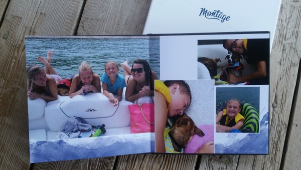 Inside my Montage photo book. LOVE this book! #MothersDay #gift #spon