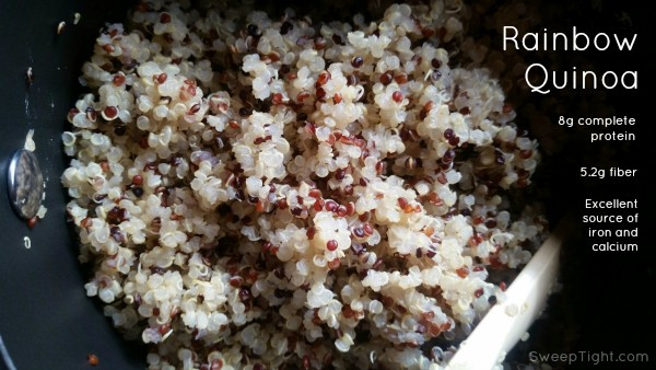Rainbow Quinoa is amazing. So delicious and nutritious