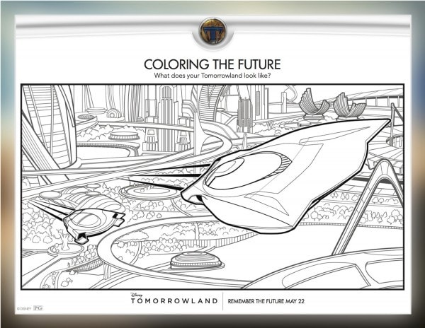 Tomorrowland Movie coloring sheets #Tomorrowland