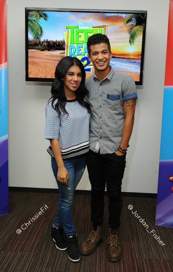 Chrissie Fit and Jordan Fisher from #TeenBeach2 #TeenBeach2Event #InsideOutEvent