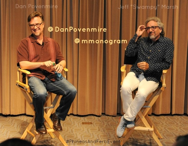 "DAN POVENMIRE (CO-CREATOR/EXECUTIVE PRODUCER, ""PHINEAS AND FERB""), JEFF ""SWAMPY"" MARSH (CO-CREATOR/EXECUTIVE PRODUCER, ""PHINEAS AND FERB"")"